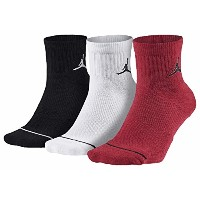 NIKE JORDAN Dri-FIT Quartre Sock 3 Pack Black 3足組 ソックス M(24~26cm) [並行輸入品]