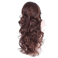 Zhhlinyuan 良質 Womens Natural Fluffy Synthetic Wigs Elegant Long Curly Wigs WL9173