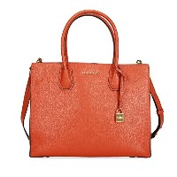 (マイケルコース)MICHAEL KORS Studio Leather Large Mercer Convertible Tote Orange Handbag マーサーラージトート オレンジ ...