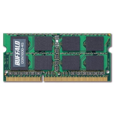 BUFFALO PC3-12800 204Pin DDR3 SDRAM S.O.DIMM 4GB D3N1600-4G