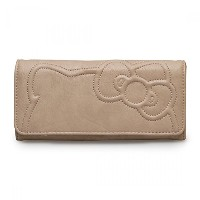 Hello Kitty Quilted Taupe Wallet