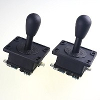 Easyget 2 Pcs/lot Happ Style Ultimate 4 or 8 Way Joystick with Switches Mame (Tm) Compatable for...