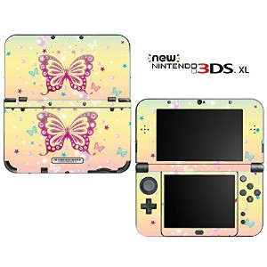new3DSLL 【スキンシール】 New ニンテンドー 3DS LL /MT26/Butterfly Bling