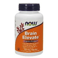 海外直送品 Now Foods Brain Elevate Formula, 120 Vcaps