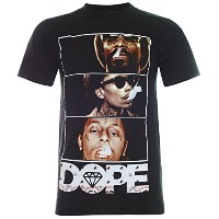 (パラス)PALLAS All Star DOPE Hip Hop T-Shirt (TN058) (XL, Black)
