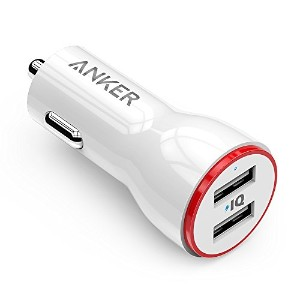 Anker PowerDrive 2 (24W/4.8A 2ポート USBカーチャージャー) iPhone、Android、IQOS対応 (ホワイト)