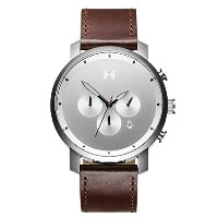 MVMT Watches クロノグラフ SILVER/BROWN LEATHER 男性 メンズ 腕時計 [並行輸入品]