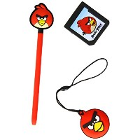 ANGRY BIRDS Stylus Essentials Set (3PC) for Nintendo 3DS, Red Bird (35193)