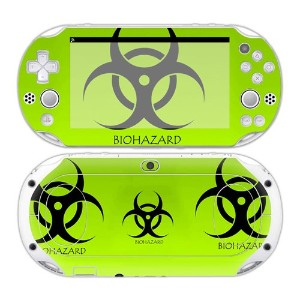 Sony PS Vita 2000 Playstation Skin Design Foils Faceplate Set - Biohazard Design