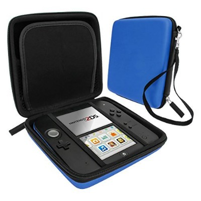Zedlabz hard protective eva carry case for Nintendo 2DS with built in game storage - Blue by...