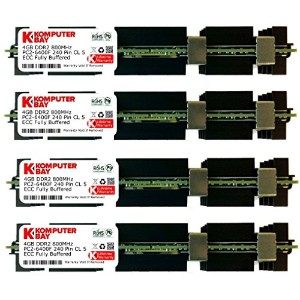 Komputerbay 16GB (4x 4GB) DDR2 PC2-6400F 800MHz ECC Fully Buffered FB-DIMM (240 ピン) 共 ヒートスプレッダ, 対して...