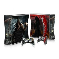 XBOX 360 Slim Skin Design Foils Faceplate Set - Death Design