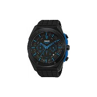 パルサー Pulsar PT3465 45mm Ion Plated Stainless Steel Case Black Silicone Mineral Men's Watch 男性 メンズ...