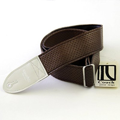 Couch Guitar ギター用ストラップ 70's Brown Camino Guitar Strap / White End Tab