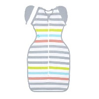 Love to Dream Swaddle UP 50/50 Lite, Multi Stripe, Medium, 13-18.5 lbs by Love to Dream