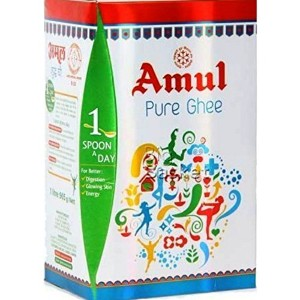 Pure Amul Ghee 1 Ltr Pouch ( Upper Box & Inside Pouch Packaging) 1 ltr ギー ピュア アムール