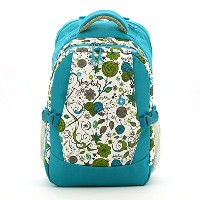 Luisvanita Diaper Bag Travel Backpack Baby Bag with Changing Pad and Stroller Buckle (Blue Printing...