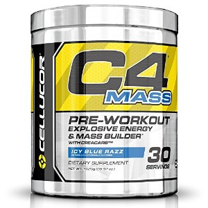 Cellucor C4 Mass Pre Workout Supplement Muscle Builder, Icy Blue Razz, 35.97 Ounce, 30 Count by...