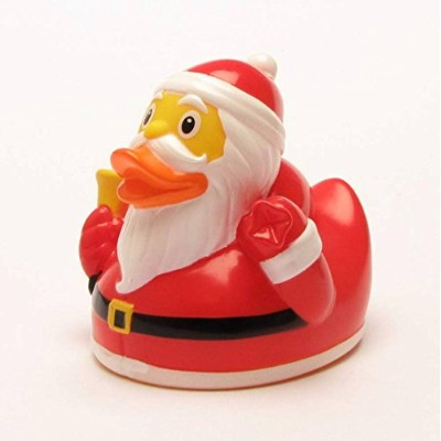 Santa Claus Rubber Duck | Bathduck | Duckshop | L: 7,5 cm