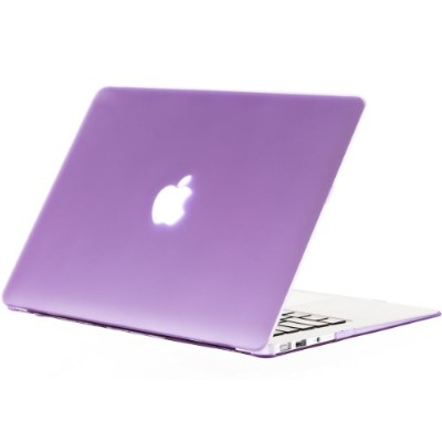 Kuzy - AIR 13-inch Light PURPLE ゴム引きハードケース Case Cover SeeThru for Apple MacBook Air 13.3-inch ...