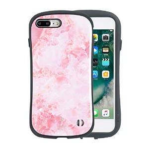 iPhone8Plus iPhone7Plus ケース 耐衝撃 iFace First Class Marble ストラップホール 正規品 / ピンク
