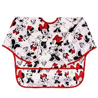 Bumkins Disney Baby Waterproof Sleeved Bib, Minnie Mouse Classic (6-24 Months) by Disney