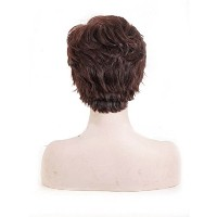 Zhhlinyuan 良質 Womens Natural Fluffy Synthetic Wigs Elegant Short Curly Wigs WS352