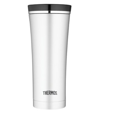 Thermos 16-Ounce Vacuum-Insulated Travel Tumbler, Stainless Steel タンブラー ブラック 450ml