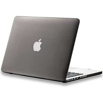 "Kuzy - Retina 13-Inch GRAY ゴム引きハードケース for MacBook Pro 13.3"" with Retina Display A1502 / A1425 ..."