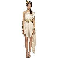 Smiffys Women's White/Gold Fever Goddess Costume - Us Dress 6-8