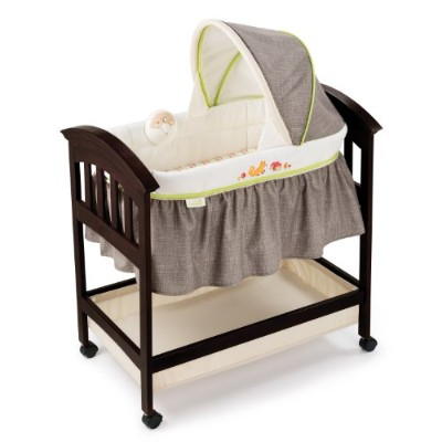 Summer Infantクラシック快適ウッドBassinet、Fox and Friends、エスプレッソStain