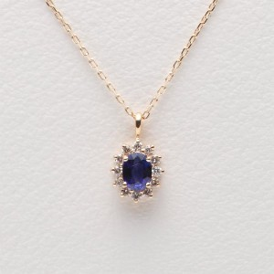 Color Jewels ペンダント サファイア K10 ネックレス [ギフトラッピング済み]