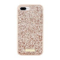 kate spade new york Glitter Case for iPhone 7 Plus - Exposed Glitter Rose Gold [並行輸入品]