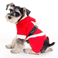 J-FITOM ペット用のハッピークリスマスギフト、犬の服ジャンパーサンタの衣装 ( Color : Red , Size : S )