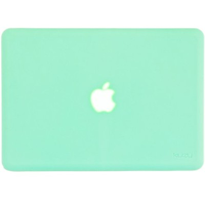 Kuzy - AIR 13-inch MINT GREEN ゴム引きハードケース Case Cover SeeThru for Apple MacBook Air 13.3-inch (A1369...