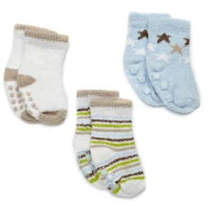 Carter's(カーターズ) :: 3-Pack Chenille Booties :: 0-3M :: 0-3ヶ月