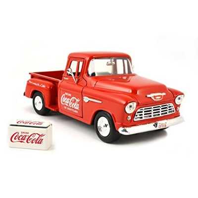 Coca-Cola(コカ・コーラ) ダイキャストミニカー 1955 Chevy Stepside Pickup With Commercial Cooler 1/24スケール