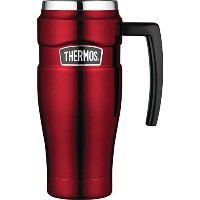 Thermos Stainless King Travel Mug, 16-Ounce 取っ手付き マグ 450ml レッド