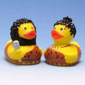 Rubber Duck Stone Age pair - ゴム製のアヒル …