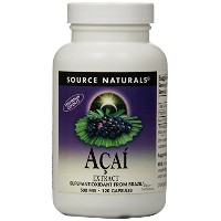 海外直送品 Source Naturals Acai Extract, 120 Vcaps 500 mg