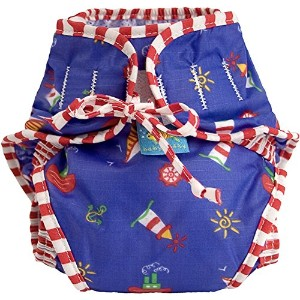 Kushies Swim Diaper, Sail Boats Print, Medium by Kushies