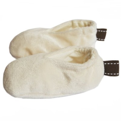 Satsuma Designs Organic Booties Natural, -6 Months by Satsuma Designs