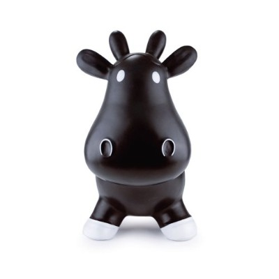Trumpette Howdy Bouncy Rubber Cow, Black by Trumpette
