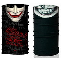 Joker UV Protection Bandana Headwear Fishing Buff Mask Scarf bms014007 マスク, 帽子