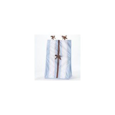 Metro Blue/Choc Diaper Stacker by Bacati