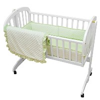 American Baby Company Heavenly Soft Minky Dot 3-Piece Cradle Bedding Set, Celery by American Baby...