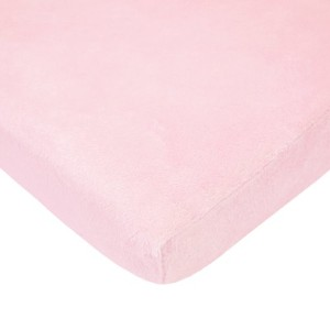 TL Care Heavenly Soft Chenille Fitted Pack 'n Play Playard Sheet, Pink by TL Care