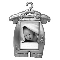 Malden Baby Pewter Juvenile Picture Frame, Boy's Outfit by Malden