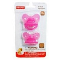 Fisher Price Pink Pacifiers with Case by Fisher-Price