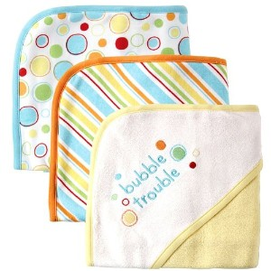 Luvable Friends Embroidered Sayings Hooded Towels, Yellow by Luvable Friends